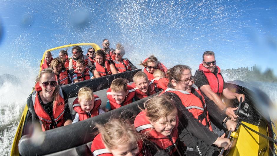 Enjoy an action packed half hour of jet boat thrills around Lake Rotorua!