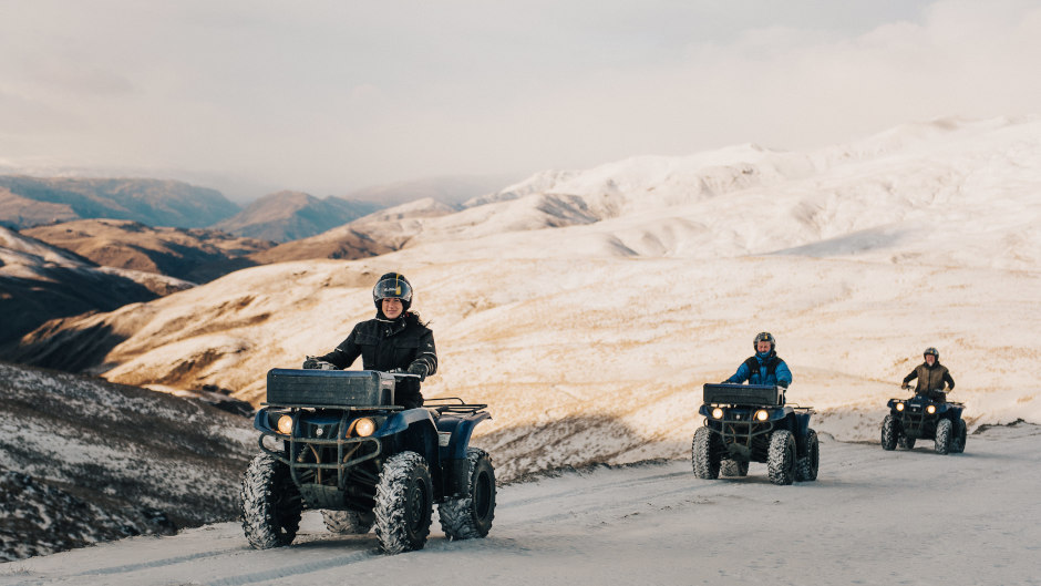 THE CARDRONA - MOUNTAIN QUAD BIKE EXPERIENCE southern alps amazing scenery