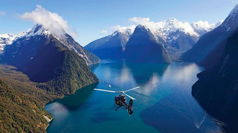 Often described as the land sculpted by divine hand, eyewitness the breathtaking geography of the Milford Sound first hand by helicopter