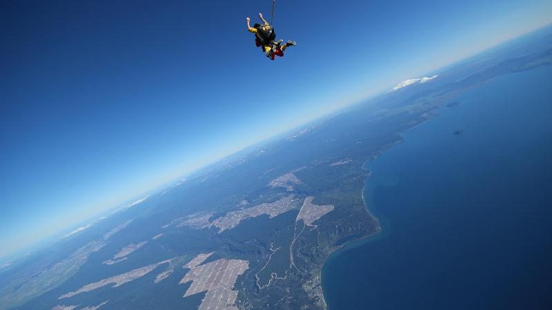 TAUPO'S HIGHEST SKYDIVE: 18,500 FT TANDEM SKYDIVE