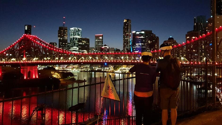 Discover the magic of Brisbane under lights as you pedal the city streets to see how artfully placed lighting on buildings, trees and bridges transform the city into a surreal vibrant world.