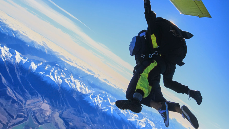 mount cook skydive southern alps