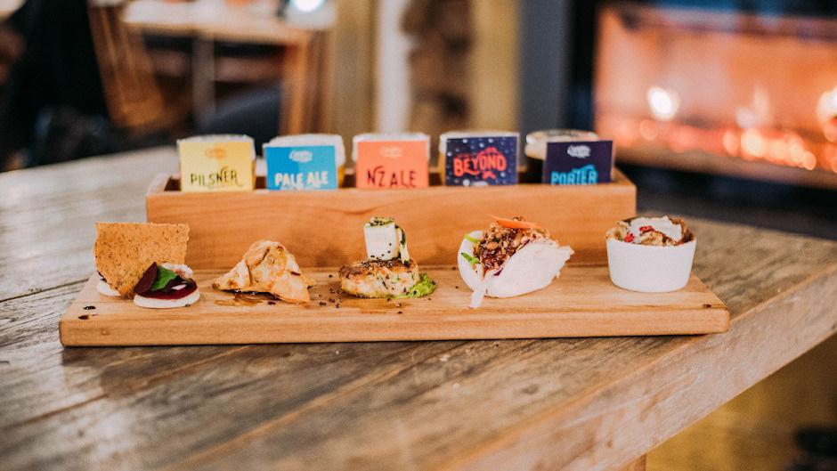 Food and Beer pairing at Canyon Brewery