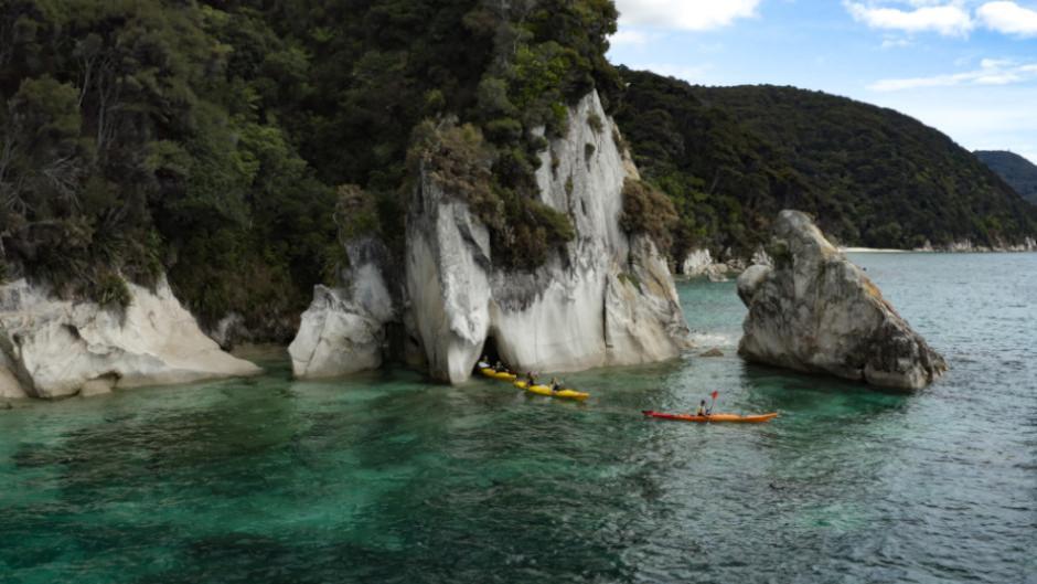Enjoy a day of exploring the Abel Tasman coastline on your own kayaking adventure!