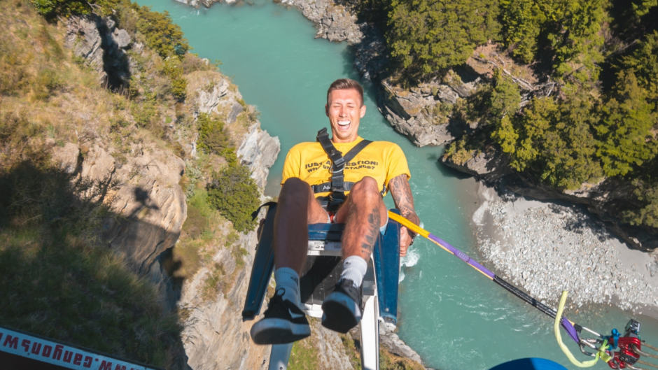 Experience an adrenaline rush like no other as you take on the world's highest cliff jump on the Shotover Canyon Swing!