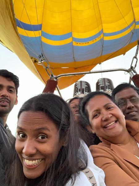 Amazing balloon ride