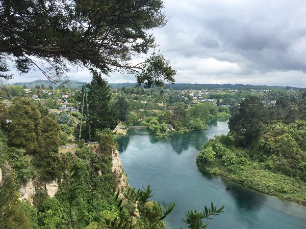 The view from the Taupo Bungy office.