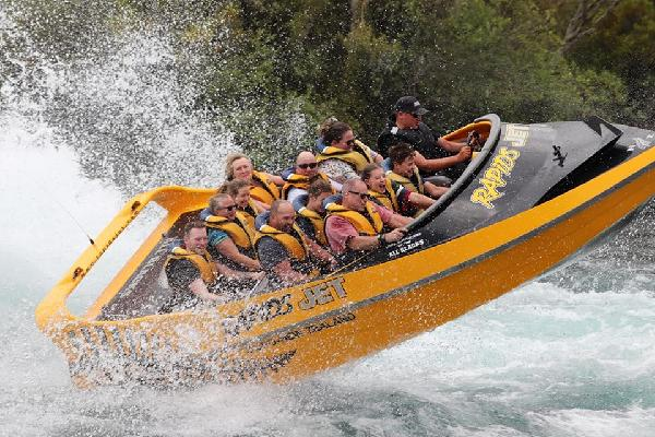 WAHOO!!!!!  Tom & Jan loving the Rapids Jet trip!!