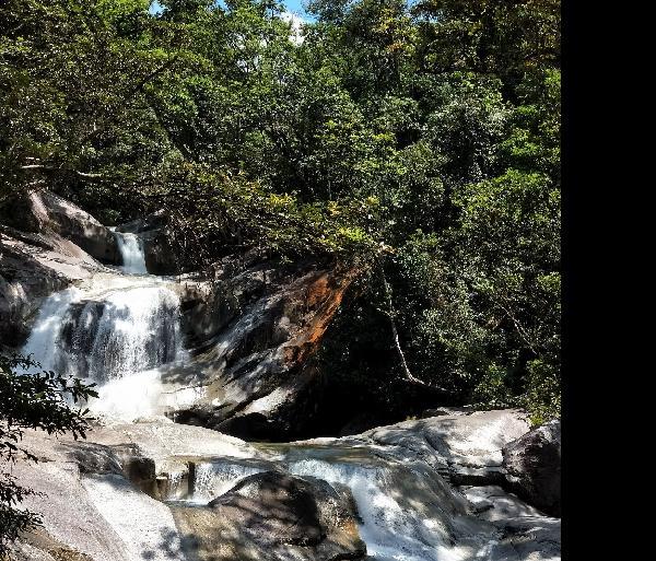 The falls.   Beautiful