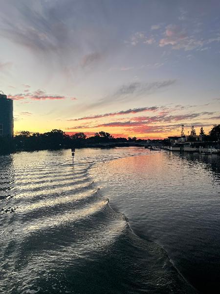 Perfect sunset activity