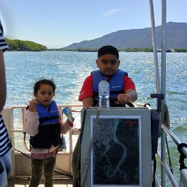 Awesome experience for the kids out fishing