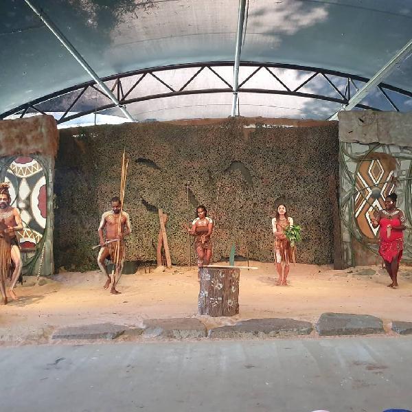 The culture of painting aboriginal symbols on boomerangs