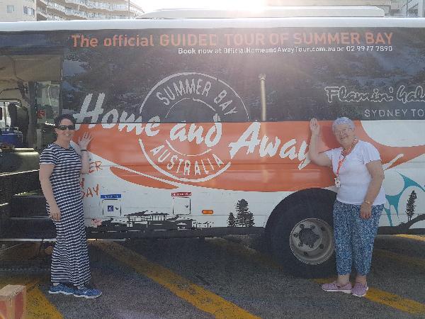 My parents and I at Palm Beach aka Summer Bay.