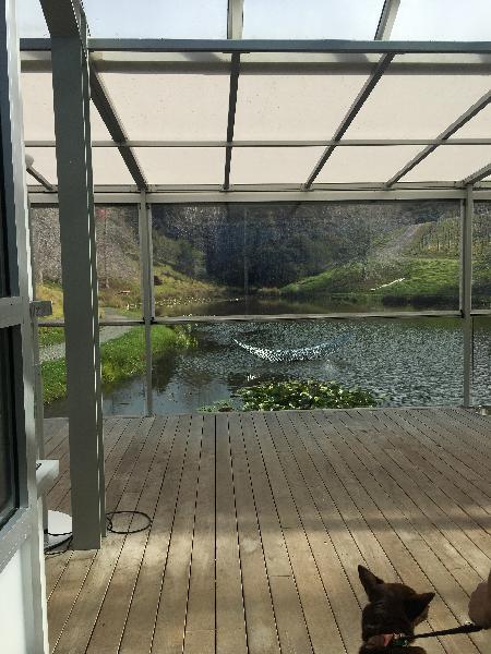 Brick yard glass house - tasting room