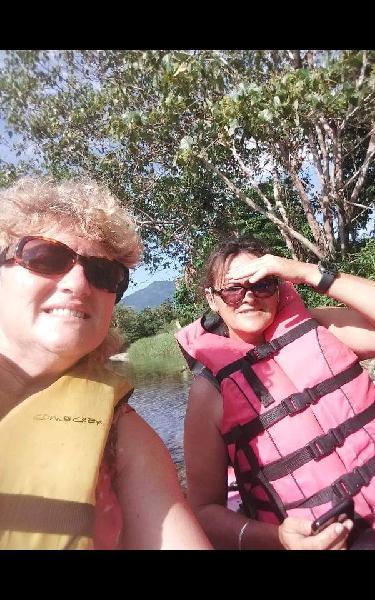 Jennifer and myself at Babinda kayak
